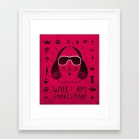 shakespeare Framed Art Prints featuring Will.i.am Shakespeare by Farnell