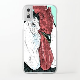Rooster II Color Clear iPhone Case