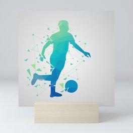 Abstract Soccer Player Mini Art Print