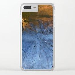 Ocean At Night Jean Copper Clear iPhone Case