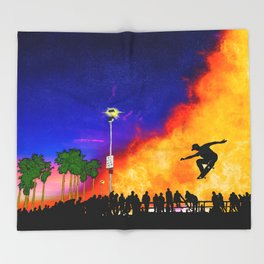 Venice Beach Skate Park Throw Blanket