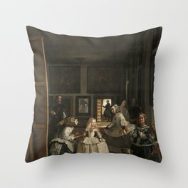 Las Meninas - Diego Velazquez Throw Pillow