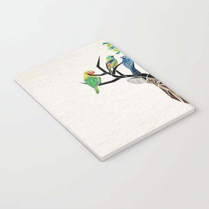 deer birds Notebook
