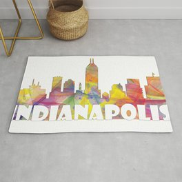 Indianapolis Indiana  Skyline MCLR 2 Rug