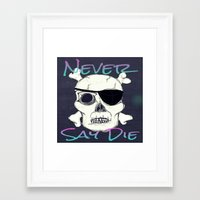 goonies Framed Art Prints featuring Goonies Skull by Just Bailey Designs .com