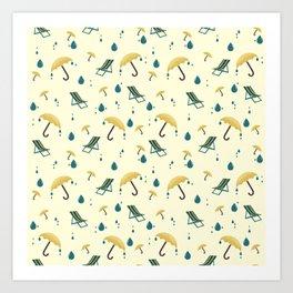 British summertime yellow pattern Art Print