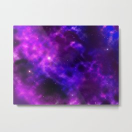 Galaxy Nebula Space Sky Metal Print