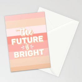 The Future Is Bright Stationery Cards