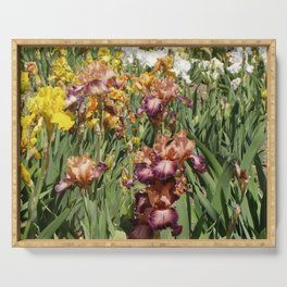 Iris Flowers Serving Tray