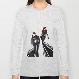 Bucky!Cap & Black Widow Long Sleeve T-shirt