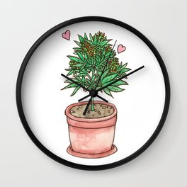 for the love of cannabis Wall Clock