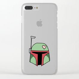 Boba Fett Valentine Clear iPhone Case