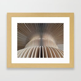 wooden curves Framed Art Print
