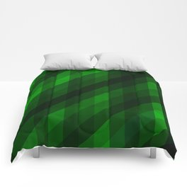 Weaving Green Diamonds Pattern Comforters