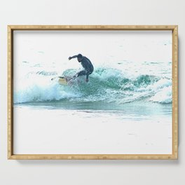 Surfing Wave  Surfer Sea Watersport Serving Tray