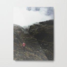 Highland Hiker Metal Print