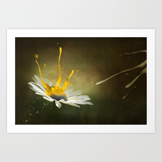Painted Daisy Art Print