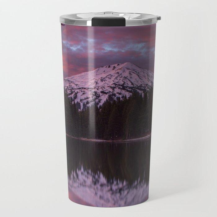 Mt. Bachelor sunrise reflection Travel Mug