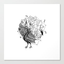 Geometric Season1:3 Peacock Canvas Print