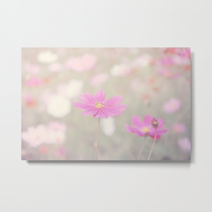 romantic flowers in soft pastel tones Metal Print
