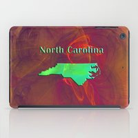 north carolina iPad Cases featuring North Carolina Map by Roger Wedegis