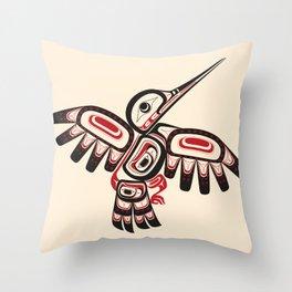 Salish Coast Humming Bird Throw Pillow