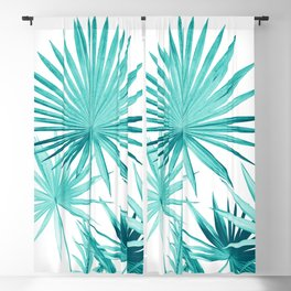 Fan Palm Leaves Jungle #3 #tropical #decor #art #society6 Blackout Curtain