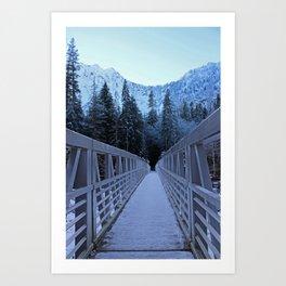 Trail of Ice Art Print