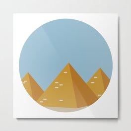 piramidi Metal Print