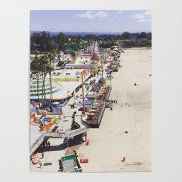 Santa Cruz Boardwalks Aerial View Poster