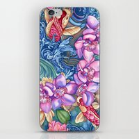 splash iPhone & iPod Skins featuring Orchid Splash by Vikki Salmela