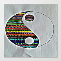 ying yang Canvas Prints featuring Ying Yang by ArtSchool