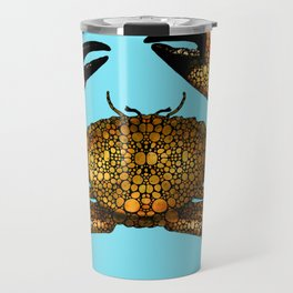 Stone Rock'd Stone Crab By Sharon Cummings Travel Mug