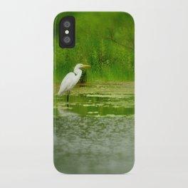 Marsh Egret iPhone Case