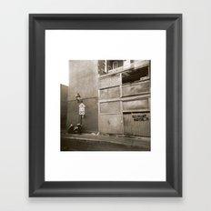 Montreal Street with Holga Framed Art Print