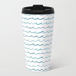 watercolor waves Travel Mug