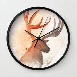 Sunlight Deer Wall Clock
