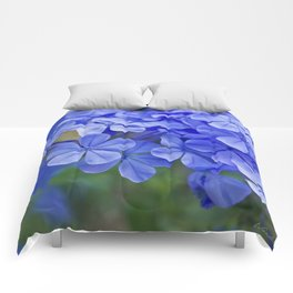 Summer garden blues Comforters