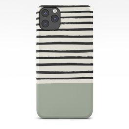 Sage Green x Stripes iPhone Case