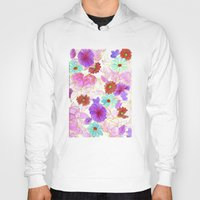 oriental Hoodies featuring Oriental blossom by Federico Faggion