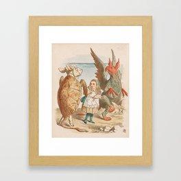 Scene from Alice in Wonderland Framed Art Print