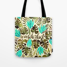 Tropical Wanderlust – Turquoise & Olive Tote Bag