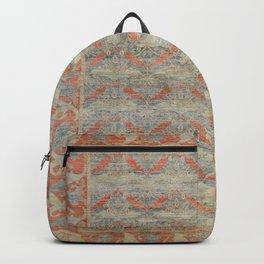Desi Gned Carpet I Old Century Authentic Colorful Burnt Orange Rust Vintage Patterns Backpack