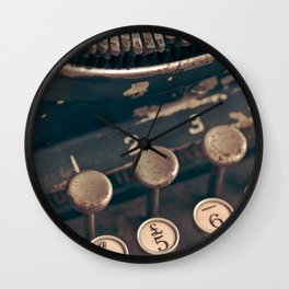 Vintage Typewriter - Macro Photography #Society6 Wall Clock