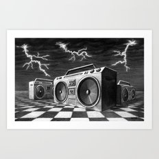 Radio Storm Art Print