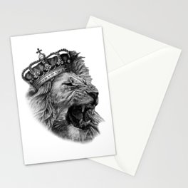 the lion head with his majestic crown Stationery Cards