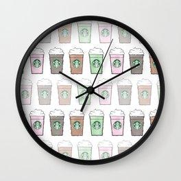 Watercolor Frappuccino Multi Wall Clock