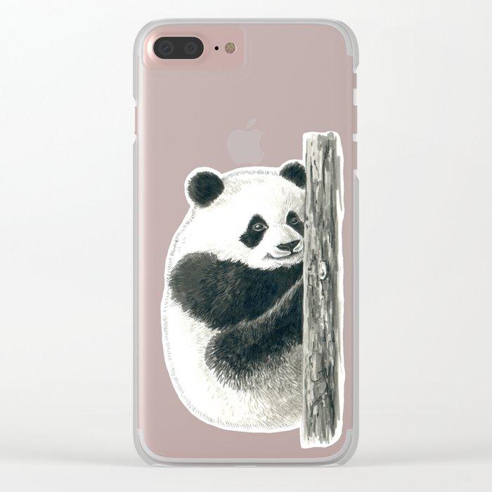 Panda bear Clear iPhone Case