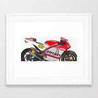 ducati Framed Art Prints featuring Ducati GP15 by Larsson Stevensem
