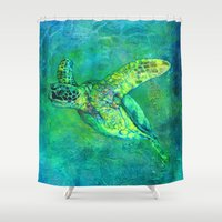 silent Shower Curtains featuring Silent Journey by Christine's heART
